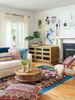 60 modern eclectic living room decorating ideas (17)