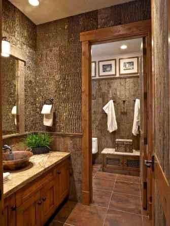60+ pretty powder rooms with rustic design (38)