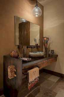 60+ pretty powder rooms with rustic design (45)