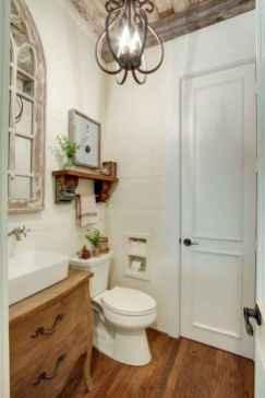 60+ pretty powder rooms with rustic design (65)