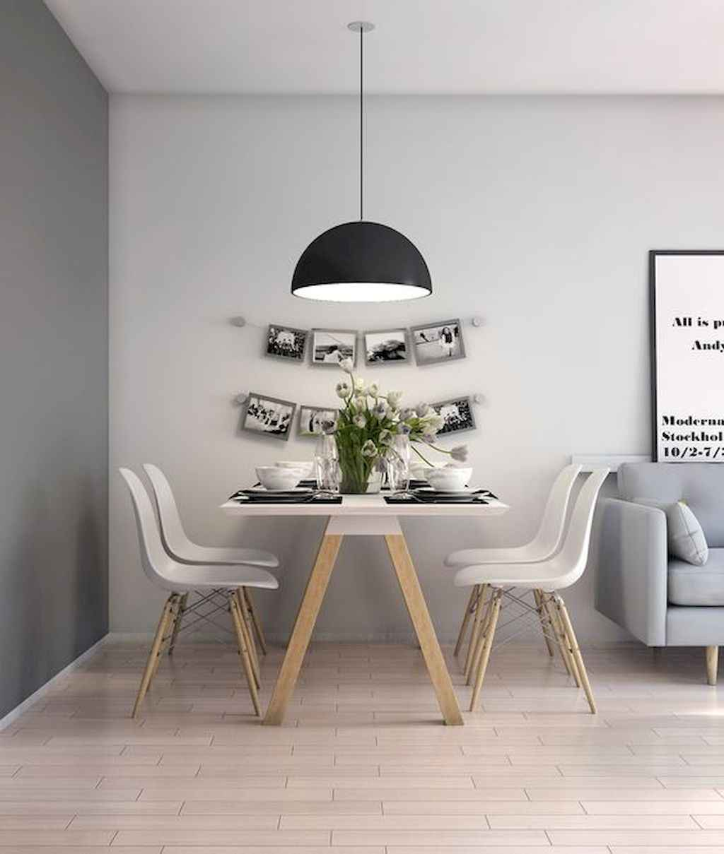 Awesome minimalist dining room decorating ideas (52)