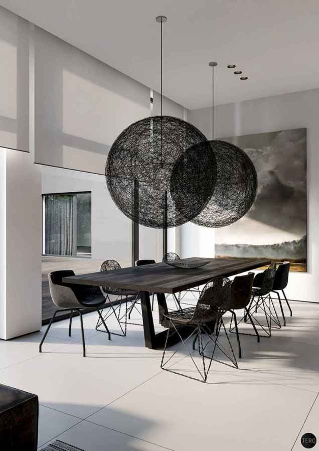 Awesome minimalist dining room decorating ideas (55)