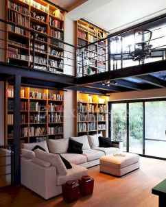Beautiful home library design ideas (41)