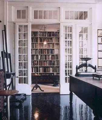Beautiful home library design ideas (57)