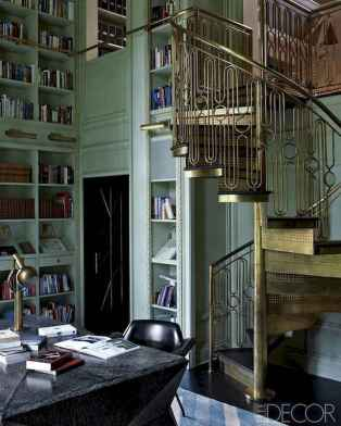 Beautiful home library design ideas (59)