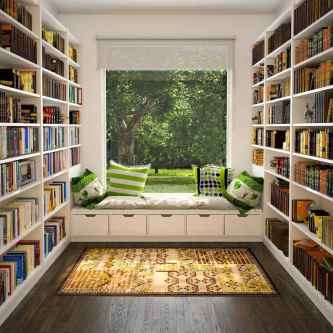 Beautiful home library design ideas (6)