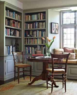 Beautiful home library design ideas (60)