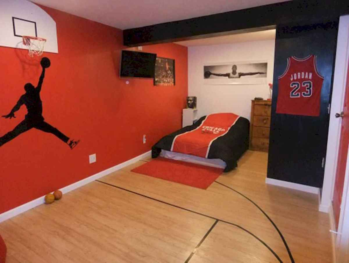 Cool sport bedroom ideas for boys (48) - Roomadness.com