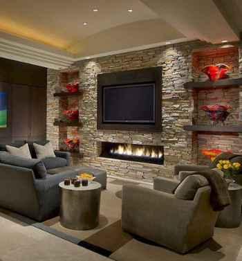 Inspired tv wall living room ideas (12)