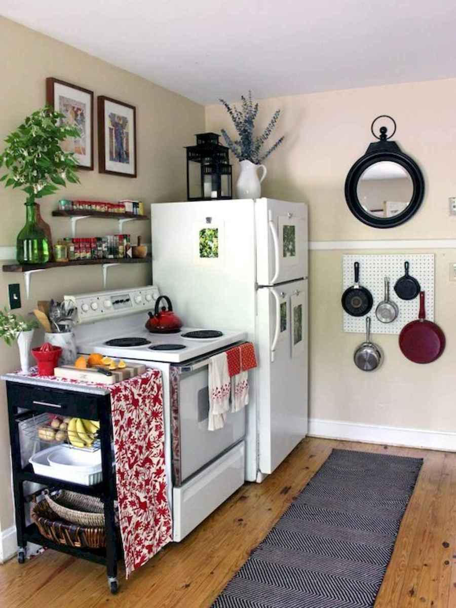 Simply apartement kitchen decorating ideas on a budget (54)