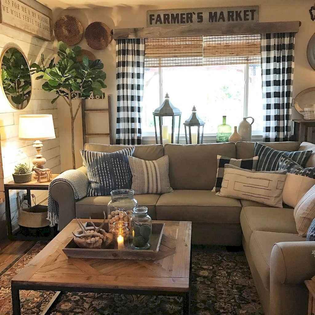 25 modern farmhouse living room first apartment ideas (23 ...