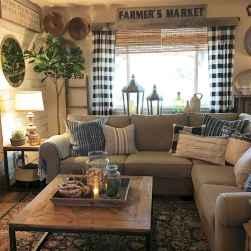 25 modern farmhouse living room first apartment ideas (23)