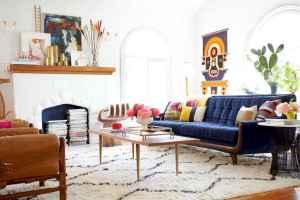 40 boho chic first apartment decor ideas (16)