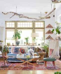 40 boho chic first apartment decor ideas (20)