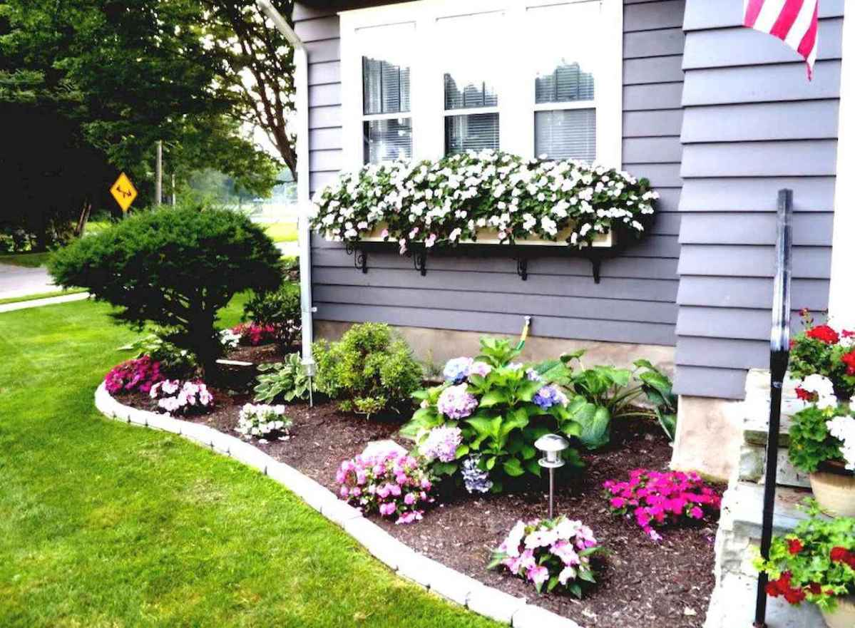 50 diy flower garden ideas in front of house (13) - roomadness