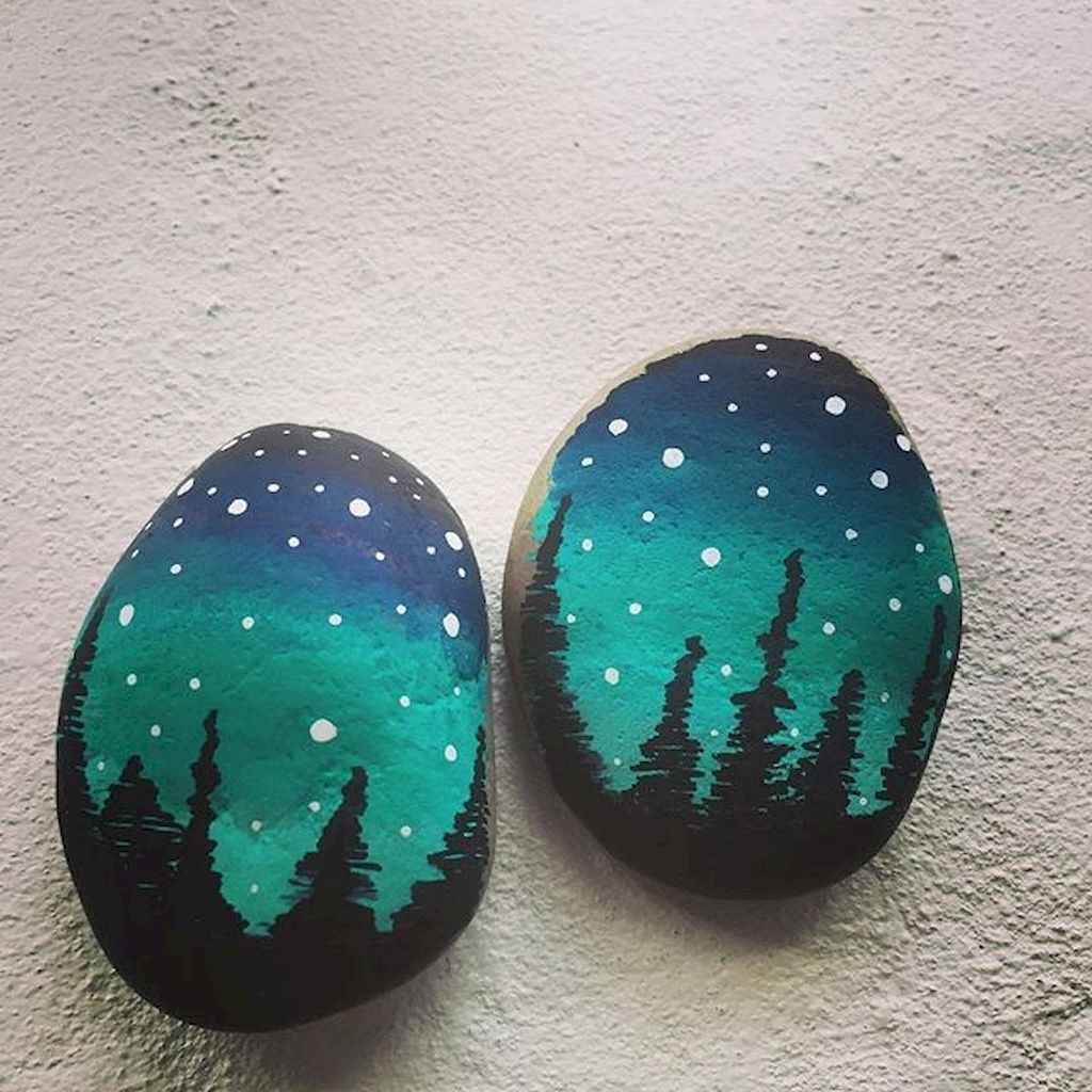 70 diy painted rock for first apartment ideas (14)
