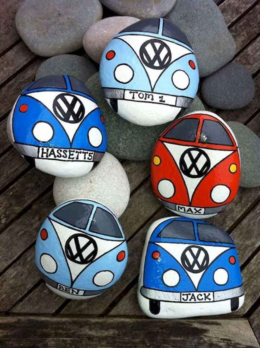 70 diy painted rock for first apartment ideas (28)