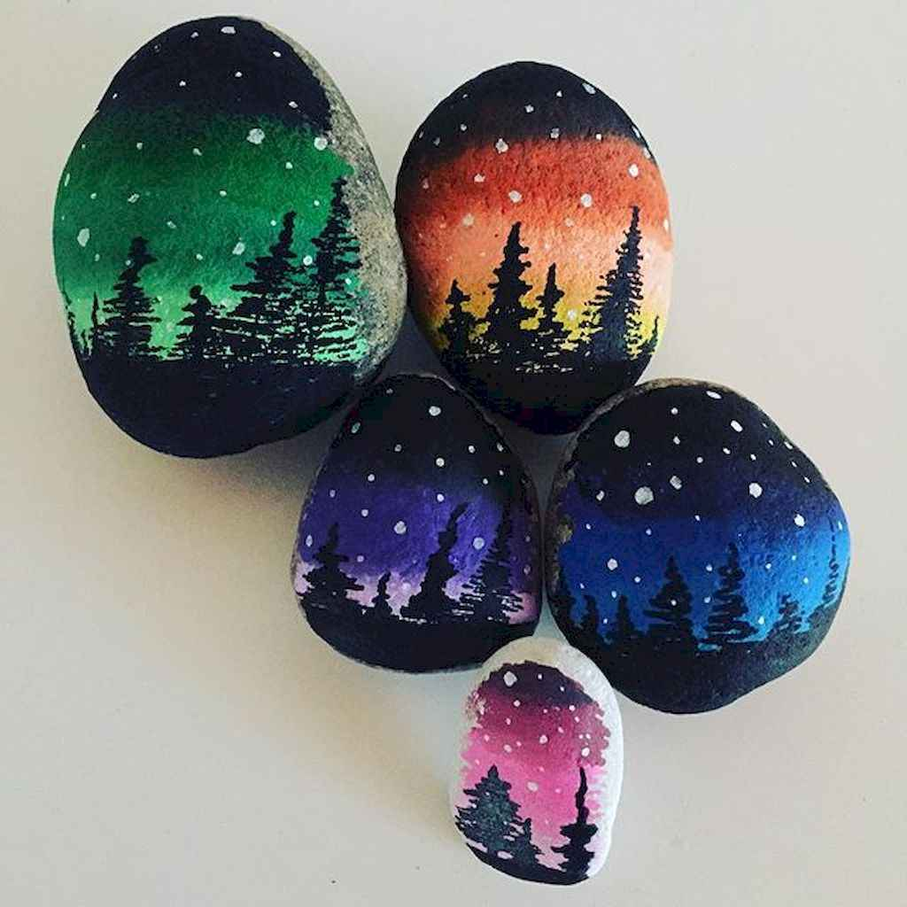 70 diy painted rock for first apartment ideas (39)