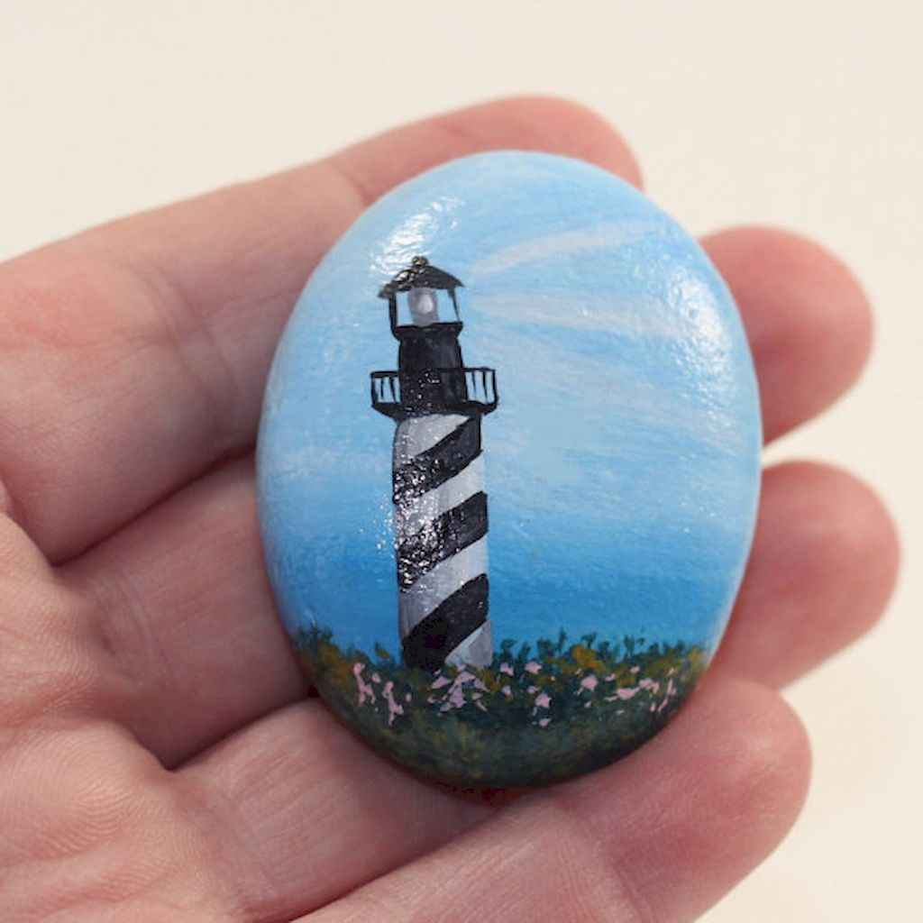 70 diy painted rock for first apartment ideas (68)