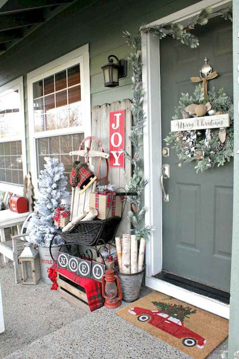 55 awesome christmas front porches decor ideas (11)