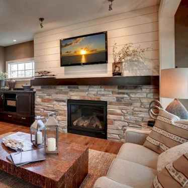 80 incridible rustic farmhouse fireplace ideas makeover (22)