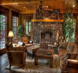 80 incridible rustic farmhouse fireplace ideas makeover (28)