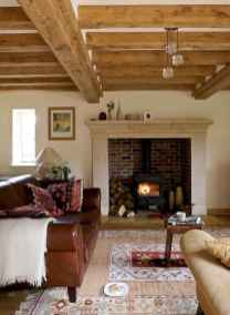 80 incridible rustic farmhouse fireplace ideas makeover (4)