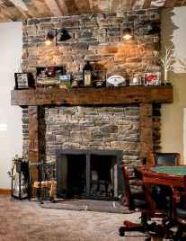 80 incridible rustic farmhouse fireplace ideas makeover (40)