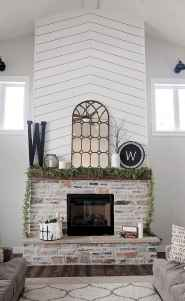80 incridible rustic farmhouse fireplace ideas makeover (55)