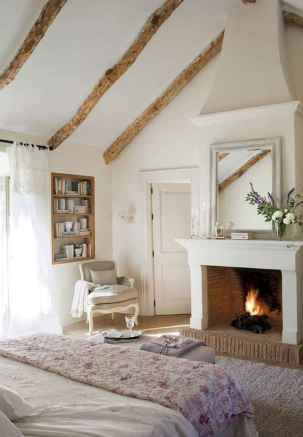 80 incridible rustic farmhouse fireplace ideas makeover (61)