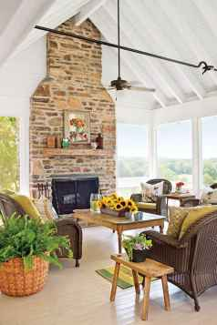80 incridible rustic farmhouse fireplace ideas makeover (66)