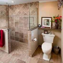 80 stunning tile shower designs ideas for bathroom remodel (10)