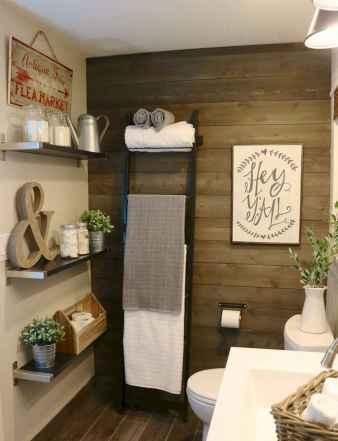 110 spectacular farmhouse bathroom decor ideas (62)