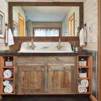 110 spectacular farmhouse bathroom decor ideas (35)