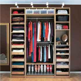 120 brilliant wardrobe ideas for first apartment bedroom decor (89)