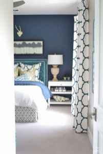 40 navy master bedroom decor ideas (37)