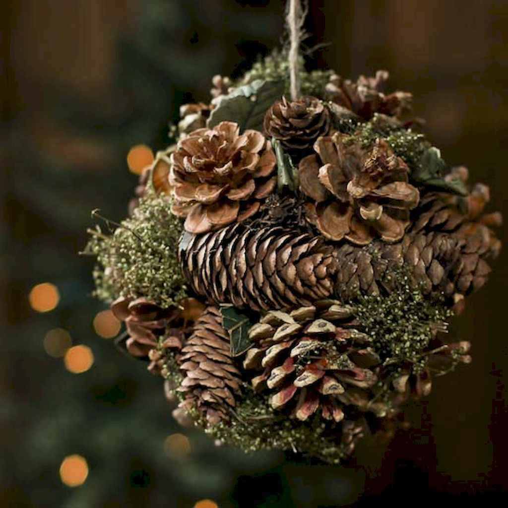 45 outdoor pine cones christmas decorations ideas (16)