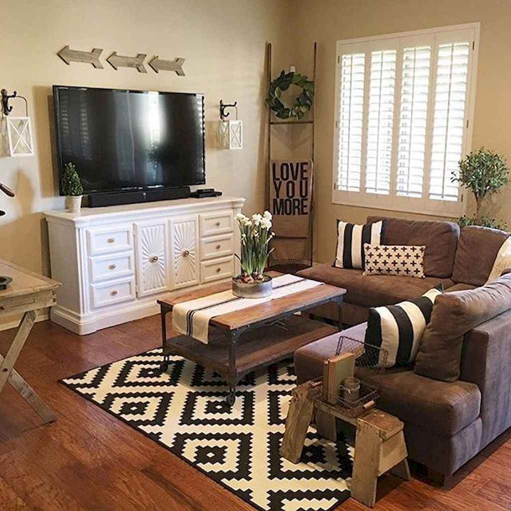 15 Rustic Home Decor Ideas For Your Living Room: 50 Elegant Rustic Apartment Living Room Decor Ideas