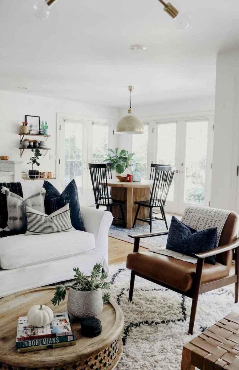 60 cool modern farmhouse living room decor ideas (1)