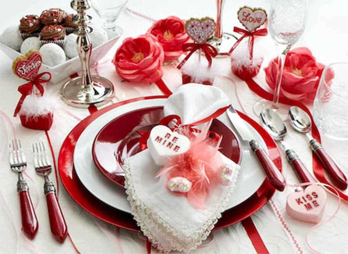 66 romantic valentines table settings decor ideas (50)