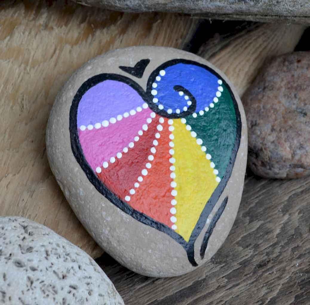 80 romantic valentine painted rocks ideas diy for girl (25)
