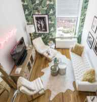 80 smart solution small apartment living room decor ideas (46)