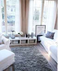 80 smart solution small apartment living room decor ideas (75)