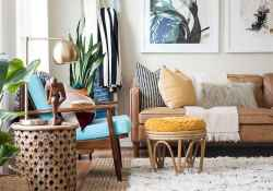 88 beautiful apartment living room decor ideas with boho style (80)