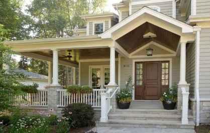 90 awesome front door farmhouse entrance decor ideas (40)
