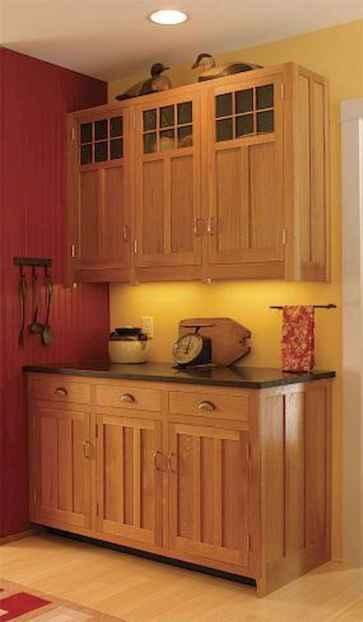 100 best oak kitchen cabinets ideas decoration for farmhouse style (10)
