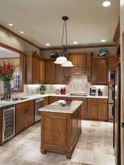 100 best oak kitchen cabinets ideas decoration for farmhouse style (22)