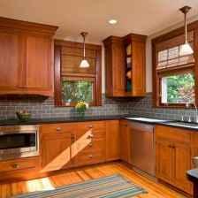 100 best oak kitchen cabinets ideas decoration for farmhouse style (25)