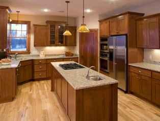 100 best oak kitchen cabinets ideas decoration for farmhouse style (41)