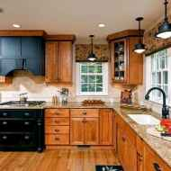 100 best oak kitchen cabinets ideas decoration for farmhouse style (64)